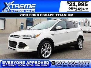 2013 Ford Escape Titanium AWD $149 BI-WEEKLY APPLY NOW DRIVE NOW