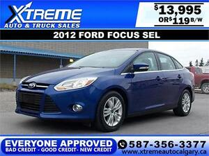 2012 Ford Focus SEL $119 BI-WEEKLY APPLY NOW DRIVE NOW