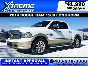 2014 Dodge Ram 1500 Longhorn $269 bi-weekly APPLY NOW DRIVE NOW