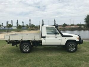 2012 Toyota Landcruiser VDJ79R MY10 WORKMATE SINGLE CAB White Manual Cab Chassis