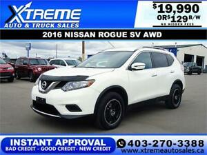 2016 NISSAN ROGUE S AWD *INSTANT APPROVAL* $0 DOWN $109/BW!