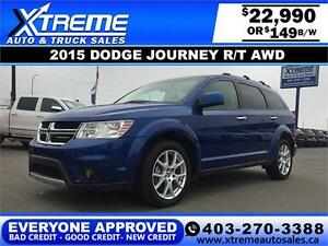 2015 Dodge Journey R/T AWD $149 bi-weekly APPLY NOW DRIVE NOW