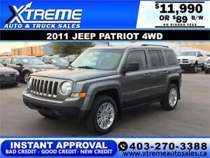 2011 JEEP PATRIOT 4WD  *$0 DOWN* $89 B/W APPLY NOW DRIVE NOW