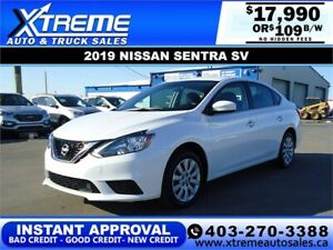 2019 NISSAN SENTRA SV *INSTANT APPROVAL* $0 DOWN $109/BW!