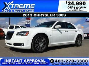 2013 Chrysler 300S LOADED $189 bi-weekly APPLY NOW DRIVE NOW