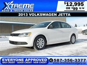 2013 Volkswagen Jetta $99 bi-weekly APPLY NOW DRIVE NOW