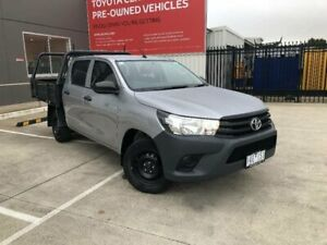 2016 Toyota Hilux TGN121R Workmate Silver Sky 5 Speed Manual Dual Cab Utility Kilmore Mitchell Area Preview