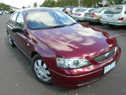 2002 Ford Falcon BA XT Burgundy 4 Speed Auto Seq Sportshift Sedan Braybrook Maribyrnong Area Preview