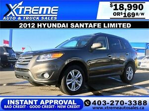 2012 Hyundai SantaFe Limited $169 bi-weekly APPLY NOW DRIVE NOW