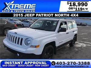 2015 Jeep Patriot North $119 BI-WEEKLY APPLY NOW DRIVE NOW