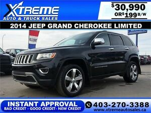 2014 Jeep Grand Cherokee Limited $199 b/w APPLY NOW DRIVE NOW