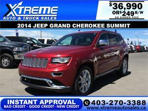 2014 Jeep Grand Cherokee Summit $249 b/w APPLY NOW DRIVE NOW