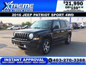 2016 JEEP PATRIOT SPORT 4WD $159 BI-WEEKLY APPLY NOW DRIVE NOW