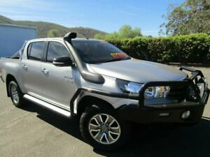 2016 Toyota Hilux GUN126R SR Double Cab Silver Sky Manual Cab Chassis Tamworth Tamworth City Preview