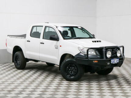 2013 Toyota Hilux KUN26R MY12 Workmate (4x4) White 5 Speed Manual