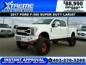 2017 FORD F-350 LARIAT LIFTED *INSTANT APPROVAL* $0 DOWN $569/BW