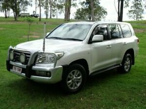 2008 Toyota Landcruiser VDJ200R Sahara White 6 Speed Sports Automatic Wagon
