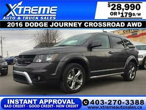2016 Dodge Journey AWD $179 bi-weekly APPLY NOW DRIVE NOW