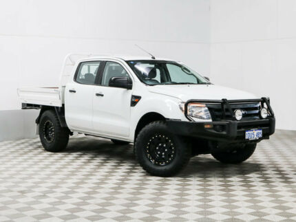 2011 Ford Ranger PX XL 3.2 (4x4) White 6 Speed Manual Dual Cab Utility