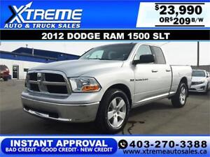 2012 DODGE RAM 1500 SLT *INSTANT APPROVAL $0 DOWN $209/BW