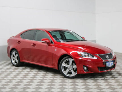 2013 Lexus IS250 GSE20R MY11 Update X Special Edition Red 6 Speed Auto Sequential Sedan