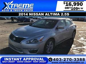 2014 Nissan Altima $109 bi-weekly APPLY NOW DRIVE NOW