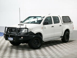 2012 Toyota Hilux KUN26R MY12 SR (4x4) White 5 Speed Manual