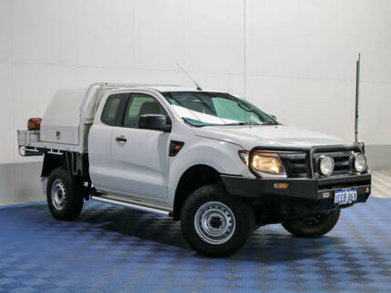 2013 Ford Ranger PX XL 3.2 (4x4) White 6 Speed Manual Super Cab Chassis
