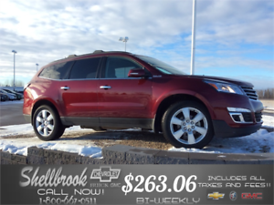 2017 Chev Traverse 4G WIFI,SUNROOF*NEW LOW PRICE $263.06 BW!