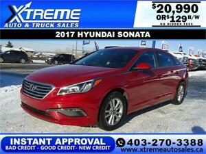 2017 HYUNDAI SONATA GL $129 BI-WEEKLY APPLY NOW DRIVE NOW