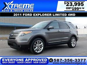 2011 Ford Explorer Limited $199 BI-WEEKLY APPLY NOW DRIVE NOW