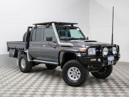 2015 Toyota Landcruiser VDJ79R MY12 Update GXL (4x4) Grey 5 Speed Manual Double Cab Chassis Jandakot Cockburn Area Preview