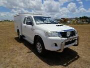 2013 Toyota Hilux KUN26R MY12 SR Xtra Cab White 5 Speed Manual Cab Chassis Archerfield Brisbane South West Preview