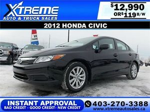 2012 Honda Civic $119 bi-weekly APPLY NOW DRIVE NOW