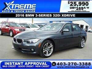 2016 BMW 3-SERIES 320i XDRIVE *INSTANT APPROVAL* $169/BW!