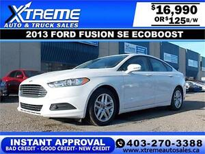 2013 Ford Fusion SE EcoBoost $119 bi-weekly APPLY NOW DRIVE NOW