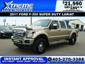 2011 FORD F-350 SUPER DUTY LARIAT *INSTANT APPROVAL $189/BW!