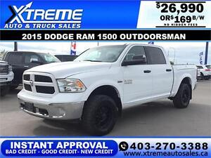 2015 Dodge Ram 1500 Outdoorsman*INSTANT APPROVAL $0 DOWN $169/BW