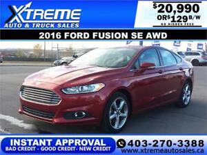 2016 FORD FUSION SE AWD $129 Bi-weekly APPLY NOW DRIVE NOW