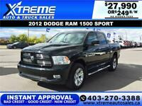 2012 DODGE RAM 1500 SPORT *INSTANT APPROVAL* $0 DOWN $249/BW! Calgary Alberta Preview