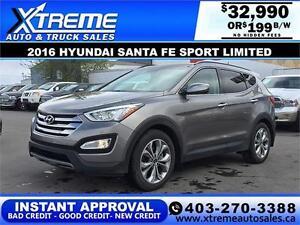 2016 Hyundai Santa Fe Sport 2.0 AWD $199 B/W APPLY NOW DRIVE NOW