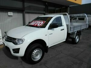 2014 Mitsubishi Triton MN MY15 GLX White 4 Speed Automatic Cab Chassis West Hindmarsh Charles Sturt Area Preview