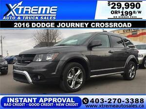 2016 Dodge Journey AWD $199 bi-weekly APPLY NOW DRIVE NOW