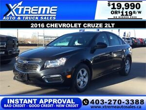 2016 CHEVROLET CRUZE LIMITED $119 B/W APPLY TODAY DRIVE TODAY