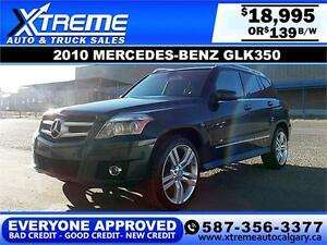 2010 Mercedes-Benz GLK 350 $179 bi-weekly APPLY NOW DRIVE NOW