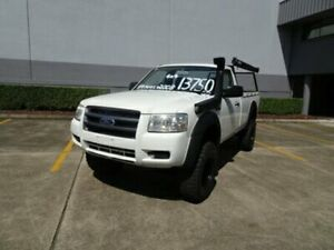2008 Ford Ranger PJ XL White 5 Speed Automatic Cab Chassis