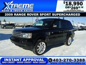 2009 LAND ROVER RANGE ROVER SPORT *$0 DOWN* $269 B/W DRIVE NOW