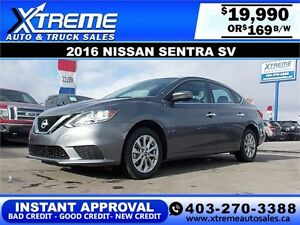 2016 NISSAN SENTRA SV $169 APPLY TODAY DRIVE TODAY