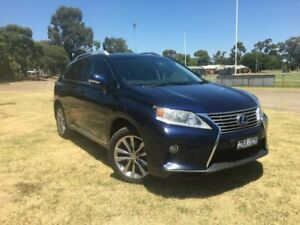 2013 Lexus RX450H GYL15R MY12 Sports Luxury Blue Continuous Variable Wagon Kilmore Mitchell Area Preview