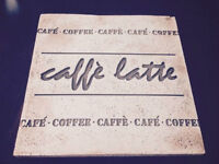 Cafe Latte Stone Sign